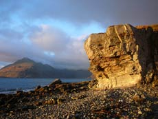 From Elgol Isle of Skye across to Cuillin Hills and Loch Coruisk